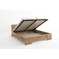 Skandica Łóżko drewniane bukowe ze skrzynią na pościel vestre maxi & st 120-200x200 (5902273653387)