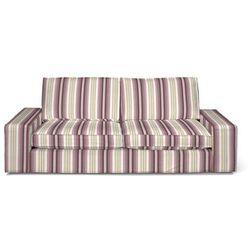pokrowiec na sofę kivik 3-osobową, rozkładaną, fioletowo-różowe pasy, sofa kivik 3-osobowa rozkładana, mirella marki Dekoria