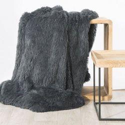 Koc narzuta na fotel tiffany 70x160 stalowy marki Eurofirany