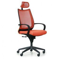 Krzesło biurowe futura, pomarańczowo/czarne marki B2b partner