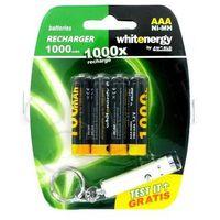 akumulator aaa 1000mah nimh 4szt::plus::mini latarka wyprodukowany przez Whitenergy