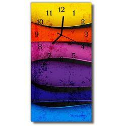 Tulup.pl Zegar szklany pionowy sztuka kolorowe linie kolorowy