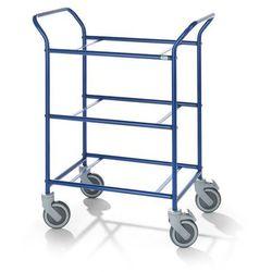 Kongamek Wózek serwisowy, do zdejmowanych skrzynek, kolor szkieletu: niebieski. nośność 1
