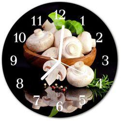 Zegar ścienny okrągły Grzyby