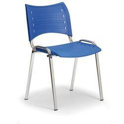 Plastikowe krzesła Smart - chromowane nogi