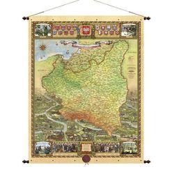 Polska 1918-1939 mapa ścienna 66,5x88 cm Pergamena (mapa szkolna) od ArtTravel.pl