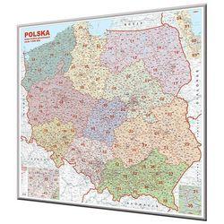 Polska mapa ścienna kody pocztowe na podkładzie magnetycznym 1:500 000 Ekograf z kategorii mapy