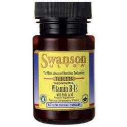 Swanson Witamina B12 1000ug & Kwas foliowy 400ug 60 tabletek do ssania (Witaminy i minerały)