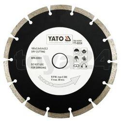 Tarcza diamentowa, segmentowa 180 mm / YT-6004 / YATO - ZYSKAJ RABAT 30 ZŁ