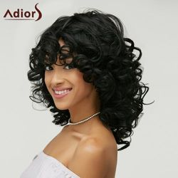 Shaggy Curly Capless Medium Heat Resistant Fiber Wig