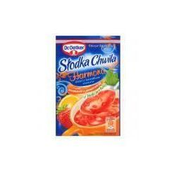 Kisiel z kawałkami owoców o smaku truskawki z pomarańczą słodka chwila harmonii 32 g  od producenta Dr. o