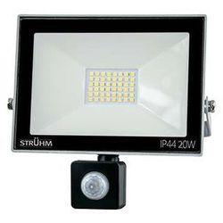 Zewnętrzna LAMPA ścienna KROMA LED 20W 03605 Ideus elewacyjna OPRAWA reflektorowa z czujnikiem ruchu outdoor