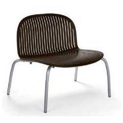 Designerski fotel ogrodowy na taras Nardi Ninfea Relax brązowy