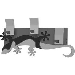 Wieszak ścienny dekoracyjny Gecko CalleaDesign czarny
