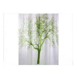 Zasłonka prysznicowa tekstylna 1,8x 2,0 m tree zielona marki Bisk