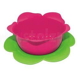 Durszlak z podstawką, różowo- zielony, duży - zak! marki Zak! designs