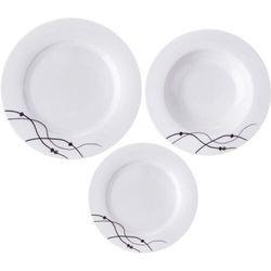 zestaw obiadowy porcelanowy vlnky okrągły 18 sztuk marki Orion