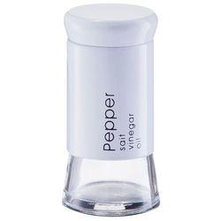 Solniczka i pieprzniczka SALT & PEPPER - kolor biały, ZELLER (4003368198354)
