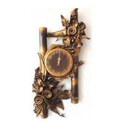 Art deco Oryginalny zegar bambusowy - b16-4