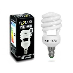 Świetlówka energooszczędna POLUX Platinum 12W E14 2700K - produkt z kategorii- świetlówki