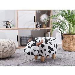 Beliani Pufa tapicerowana czarno-biała cow