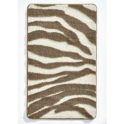 Bonprix Dywaniki łazienkowe w animalistyczny deseń brązowy