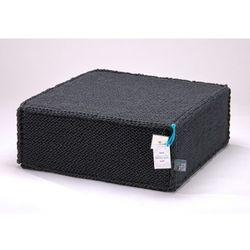 Grafitowy szydełkowy puf soft flat -  marki We love beds