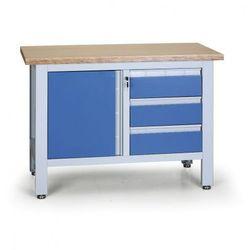 Stół warsztatowy expert, 3 szuflady, 1 szafka marki B2b partner