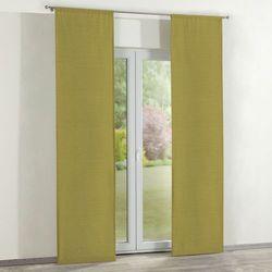 Dekoria zasłony panelowe 2 szt., zielony szenil, 60 × 260 cm, chenille