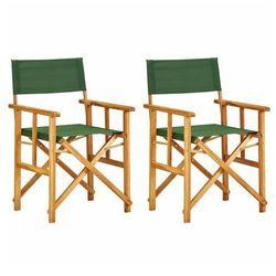 Krzesła reżyserskie składane zestaw martin -zielone marki Edinos premium