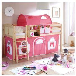 Ticaa kindermöbel Ticaa łóżko z drabinką eric country sosna naturalna/różowy-biały