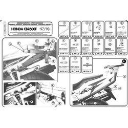 Kappa K2490 Stelaż Kufra Centralnego Honda Cbr 600 F (97>98) (stelaż motocyklowy)