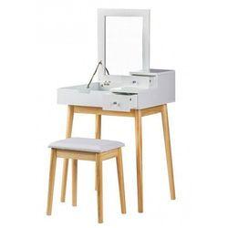 Skandynawska toaletka Coletta z lustrem - biała, FH-DT1202