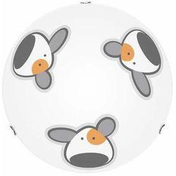 Lampa dla dziecka piesek - plafon doggy biały/ chrom led 15w 40cm marki Britop lighting