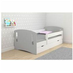 Łóżko dziecięce z barierką Pinokio 3X mix 80x140 - szare