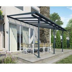 Aluminiowe zadaszenie tarasu Sierra Palram 3 x 4,25 m szare