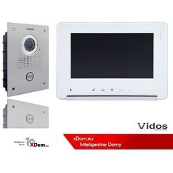 Zestaw wideodomofonu stacja bramowa monitor 7'' s551_m690ws2 marki Vidos