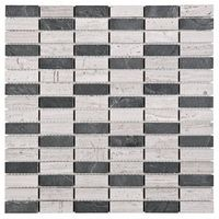 Dunin Mozaika woodstone grey block mix 48 30,5x30,5