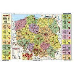 Mapa podkład oklejany Polska administracyjna + zakładka do książki GRATIS z kategorii mapy
