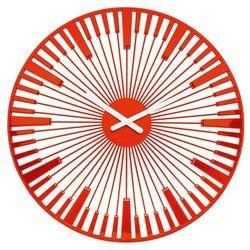 Zegar ścienny Piano pomarańczowoczerwony, kolor pomarańczowy