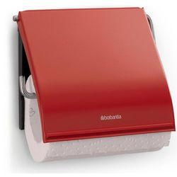 Brabantia Uchwyt na papier toaletowy classic stal szlachetna czerwona