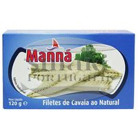 Filety z makreli portugalskich w sosie własnym 120g Manná