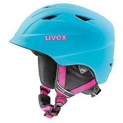 Uvex Dziecięcy kask narciarski  airwing 2 pro liteblue s (52-54cm)