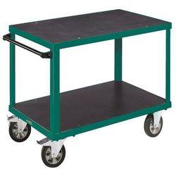 Wózek montażowy, 2 powierzchnie ładunkowe z płyt sitodrukowych, pow. ładunkowa 1 marki Eurokraft active green