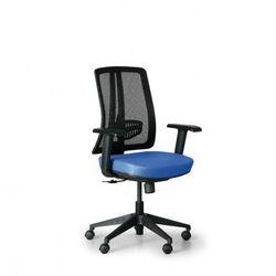 Krzesło biurowe Human, czarny/niebieski