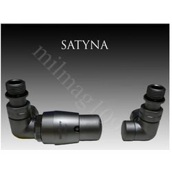 Zestaw zaworów grzejnikowych termostatycznych VISION lewy SATYNA - produkt z kategorii- Zawory i głowice