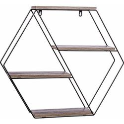 Stilista ® Metalowa półka regał hex wiszący ścienny loft