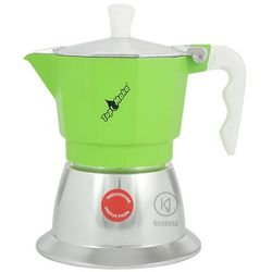 Kawiarka na indukcję top 3 filiżanki - srebrno zielona marki Top moka