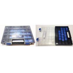 """Hogert organizer 16"""" z regulowanymi przegrodami; 39,9 x 30,3 x 5 cm (26 podziałek tworzących do 32 przegród); ht7g026 marki Gtv"""