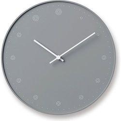 Zegar ścienny Molecule szary, kolor szary